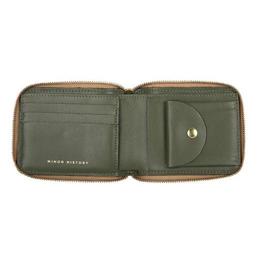 Minor History Minor History Coupe Zip Wallet: Gold & Olive