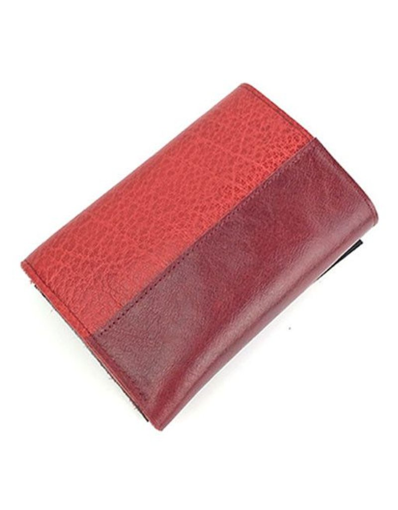 Lola Falk Lola Falk Frances Trifold Wallet: Red & Oxblood