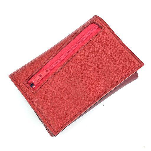 Lola Falk Lola Falk Frances Trifold Wallet: Red & Oxblood
