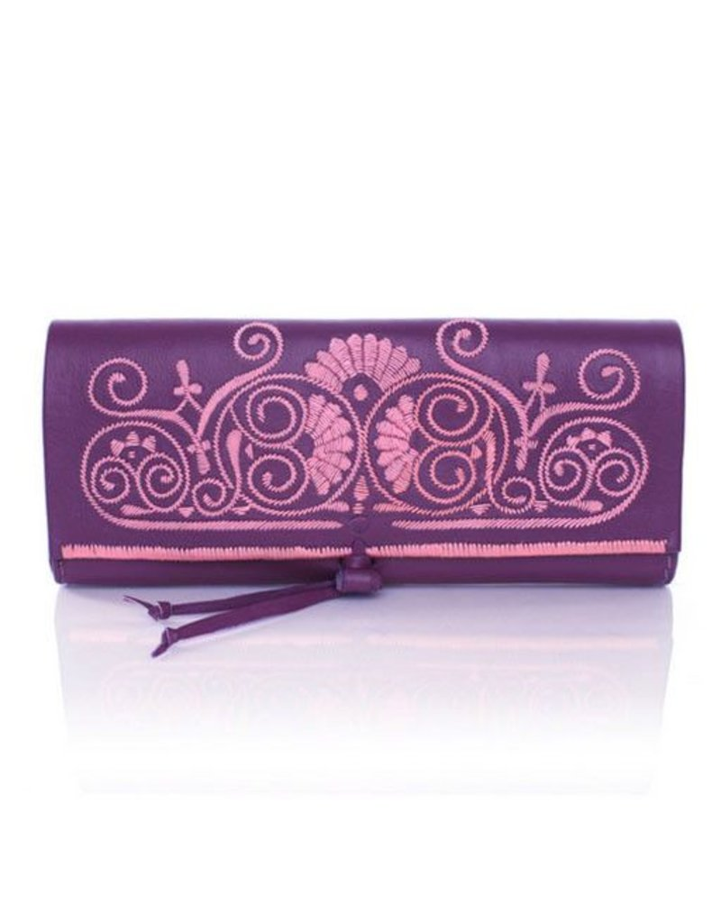 Abury Abury Berber Clutch: Purple