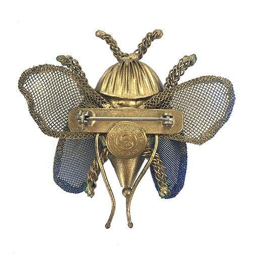 Sarah Cavender Sarah Cavender Brooch: Wide Beetle