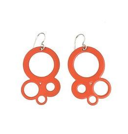 Stubborn Stiles Stubborn Stiles Bubble Earrings: Orange
