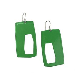 Stubborn Stiles Stubborn Stiles Rectangle Earrings: Green