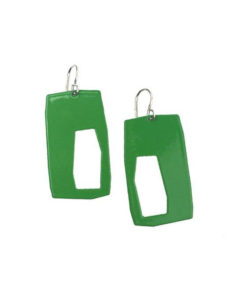 Stubborn Stiles Stubborn Stiles Rectangle Earrings: Green
