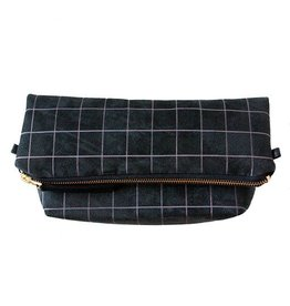 Lee Coren Lee Coren Everything Crossbody Clutch: Black Grid