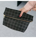 Lee Coren Lee Coren Everything Crossbody Clutch: Black Grid