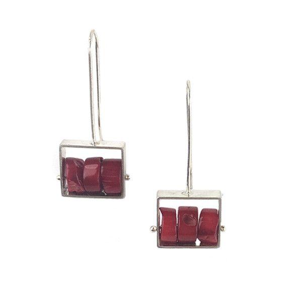 Ashka Dymel Ashka Dymel Earrings: Coral Lapis