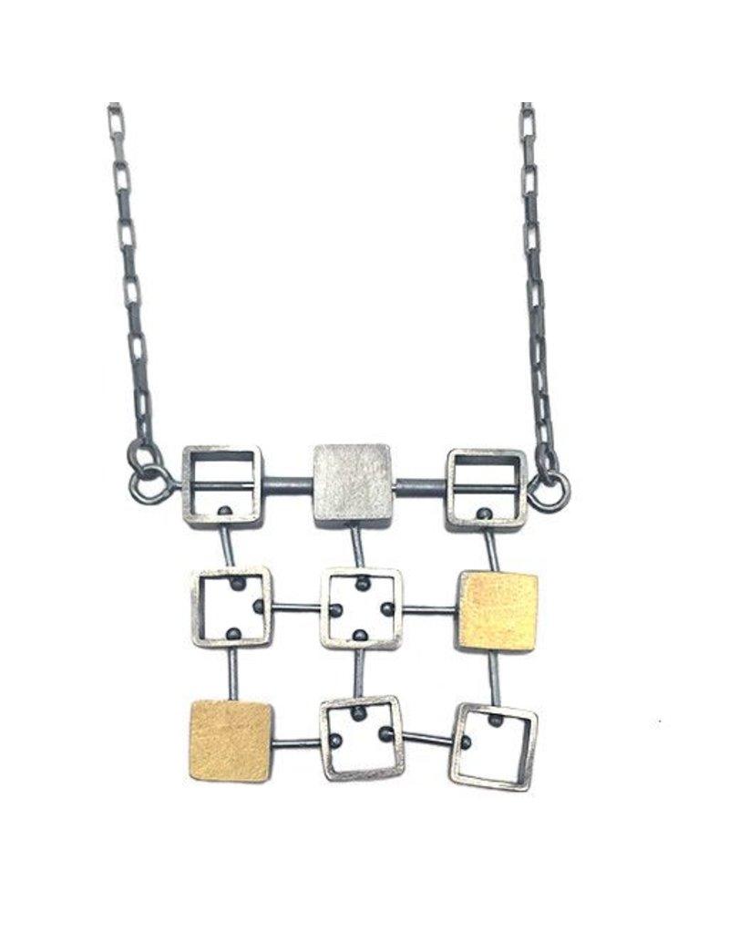 Ashka Dymel Asha Dymel Necklace: Mini Squares