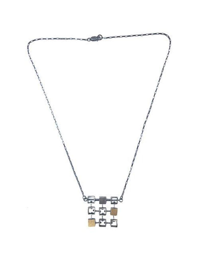 Ashka Dymel Ashka Dymel Necklace: Mini Squares