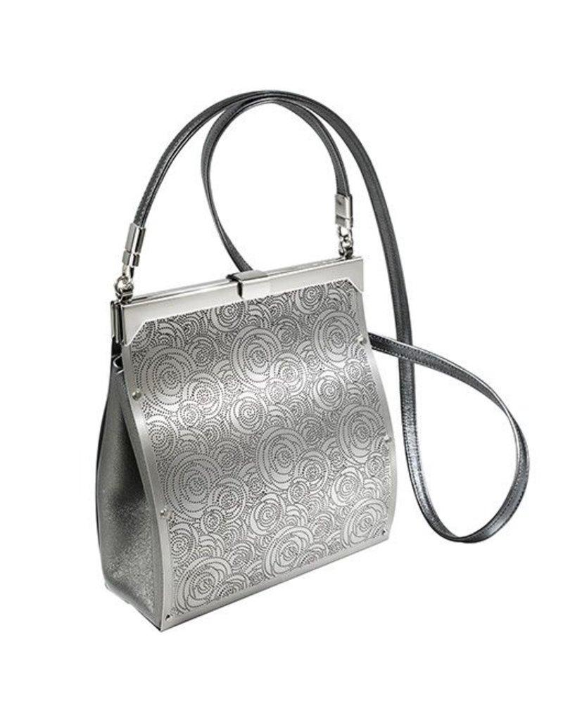 Wendy Stevens Wendy Stevens Shoulder Bag with Roses: Silver