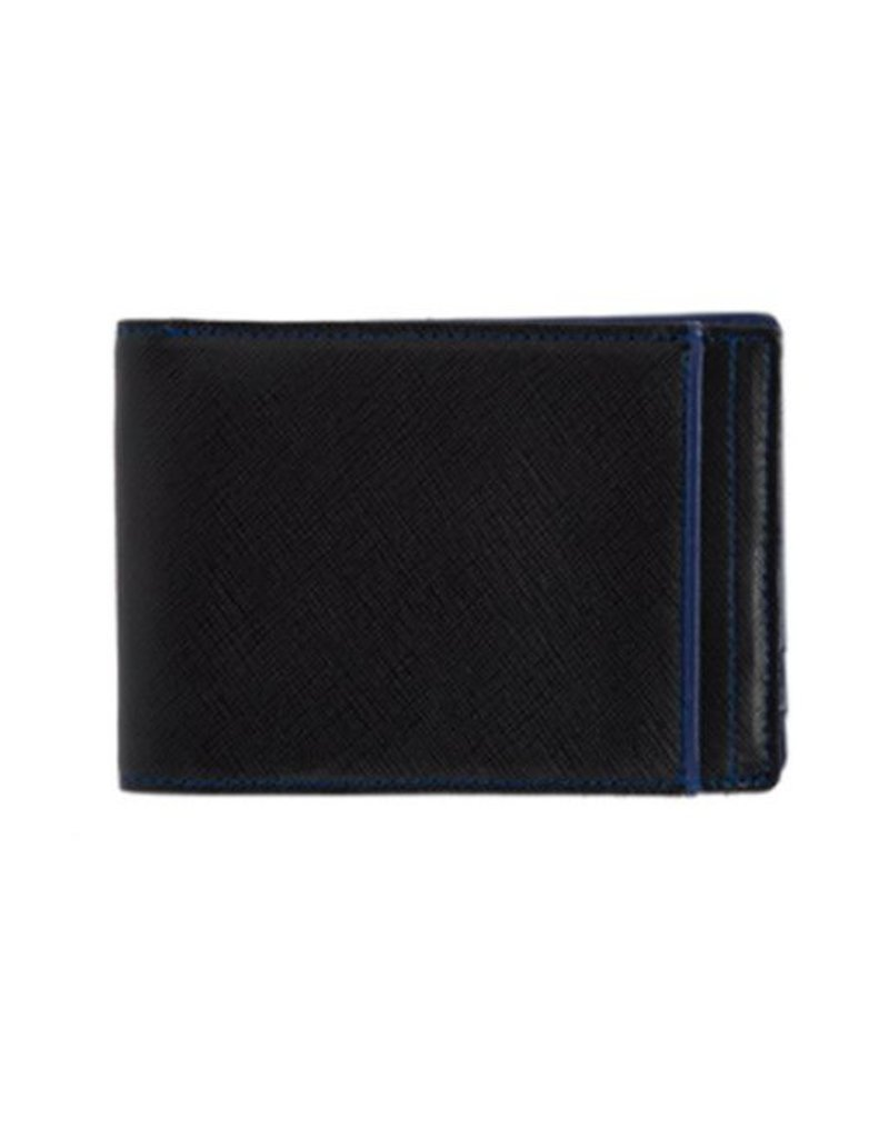 Wurkin Stiffs Wurkin Stiffs RFID Slim Wallet: Black with Blue