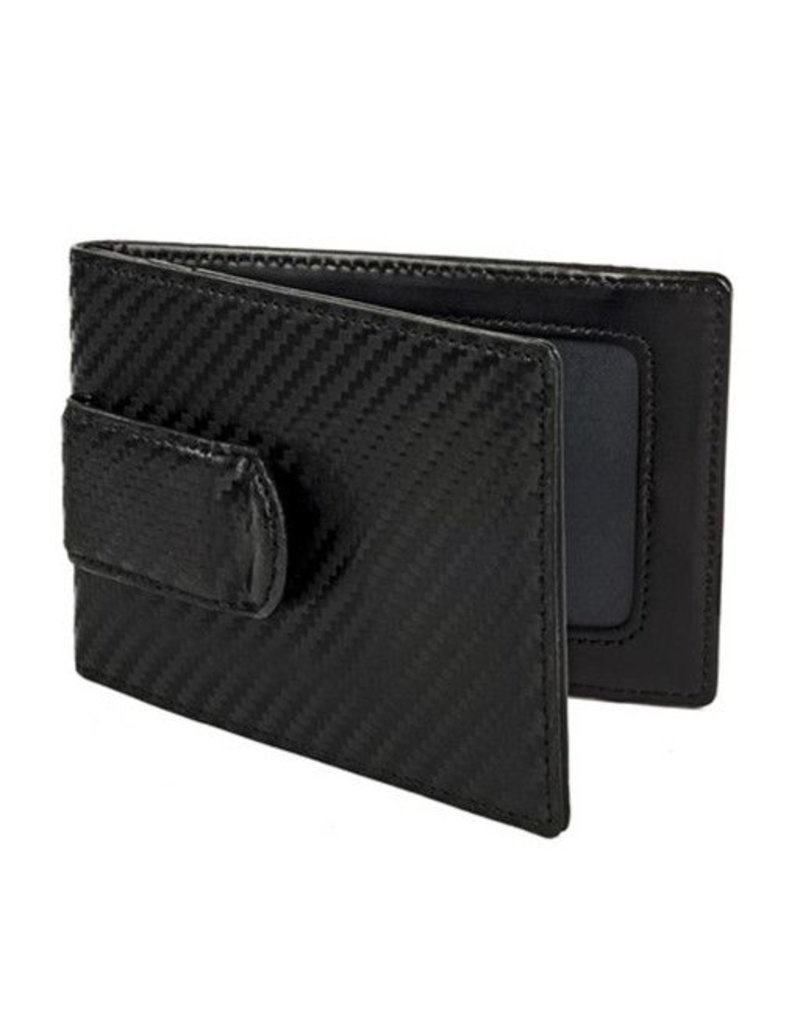 Wurkin Stiffs Wurkin Stiffs RFID Carbon Money Clip Wallet: Black