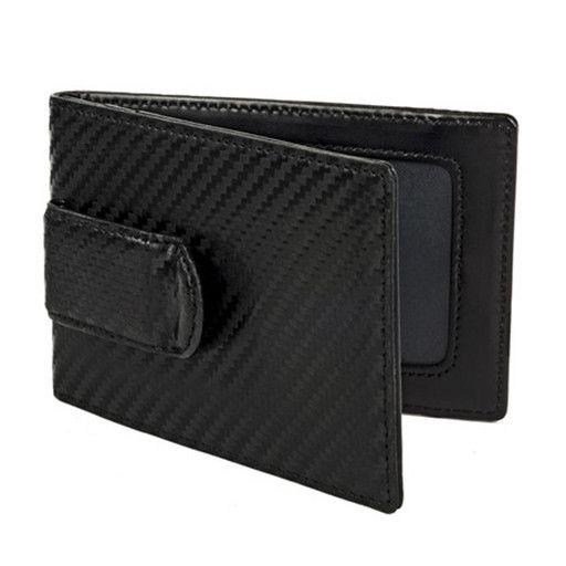 Wurkin Stiffs Wurkin Stiffs RFID Carbon Money Clip Wallet: Black