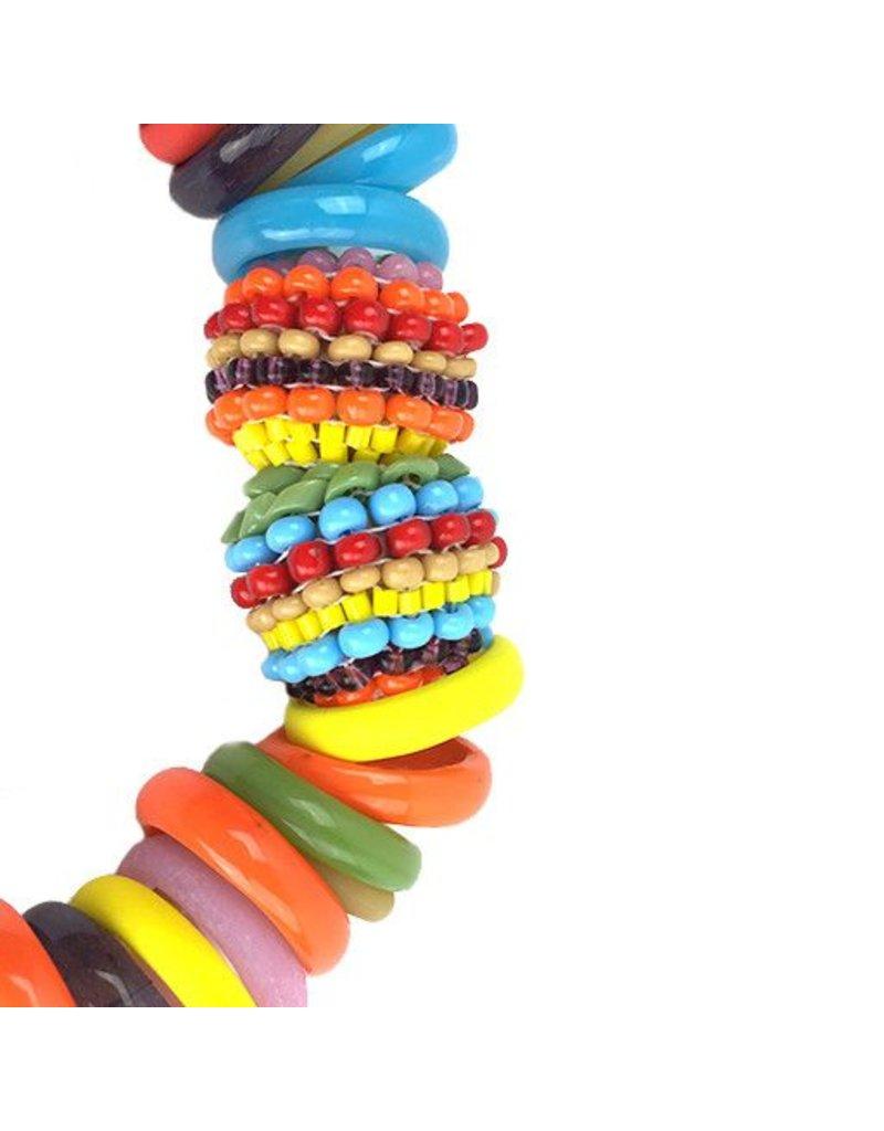 Die Kettenmacherin Die Kettenmacherin Glass Rings Necklace: Bright Multi