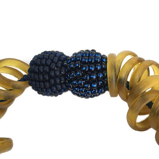 Die Kettenmacherin Die Kettenmacherin Glass Rings Necklace: Light Brown