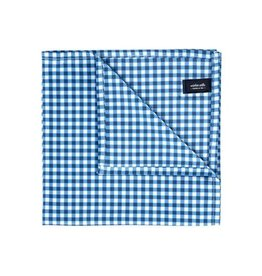 Wurkin Stiffs Wurkin Stiffs Pocket Square: Blue Check
