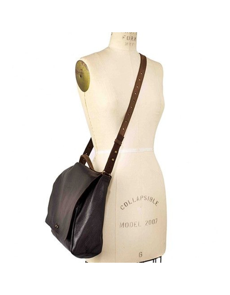 Jo Jo Messenger Backpack: Espresso Black