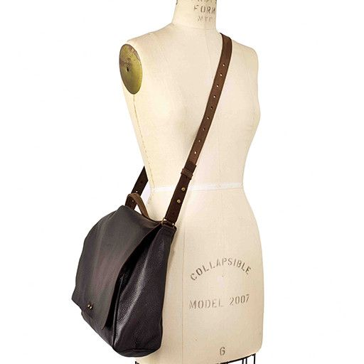 Jo Jo Messenger Backpack: Espresso Black