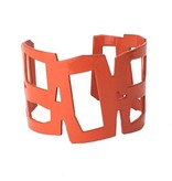 Stubborn Stiles Stubborn Stiles Rectangle Bracelet: Orange
