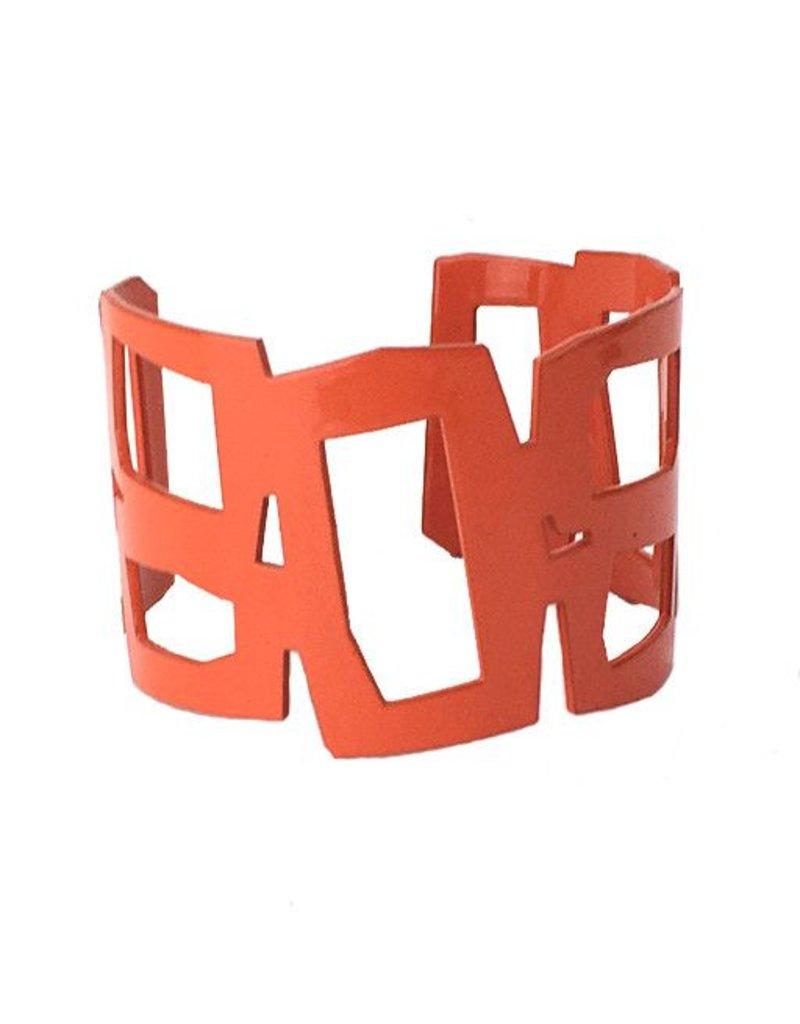 Stubborn Stiles Stubborn Stiles Rectangle Bracelet: Orange
