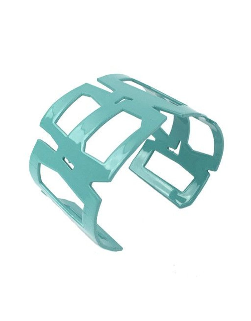 Stubborn Stiles Stubborn Stiles Rectangle Bracelet: Aqua