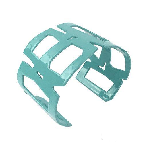 Stubborn Stiles Stubborn Stiles Rectangle Bracelet: Aqua