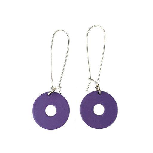 Stubborn Stiles Stubborn Stiles Loop Circle Earrings: Purple