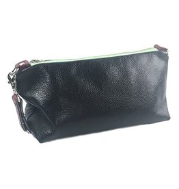 Lola Falk Lola Falk Otto Shaving Bag: Black Pebbled