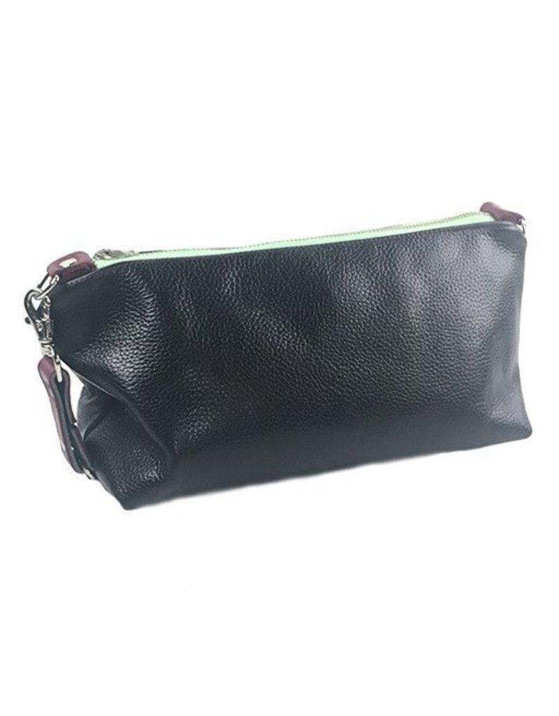 Lola Falk Lola Falk Otto Shaving Bag: Black Pebbled