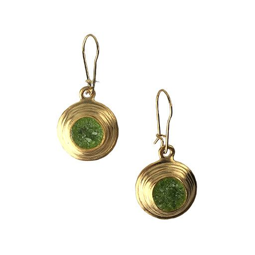 Chee-Me-No Chee-Me-No Crushed Gemstone Dangles: Green