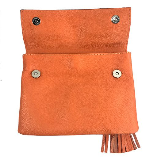 Modus Rio Modus Rio Tasseled Clutch: Orange