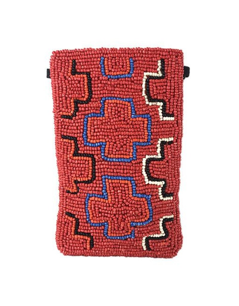 INK+ALLOY INK+ALLOY Small Beaded Crossbody: Red Multi Cross