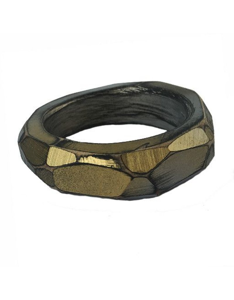 Morgan Hill Morgan Hill Bangle: Gray & Gold
