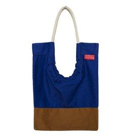 Toute Toute Tote Bag: Cobalt & Hazelnut