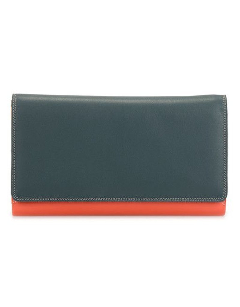 Mywalit Mywalit Large Flapover Wallet with Back Zip: Urban Sky
