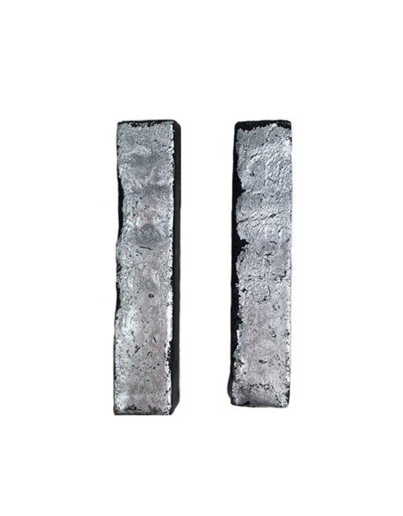 Morgan Hill Morgan Hill Scorched Wood Posts: Silver