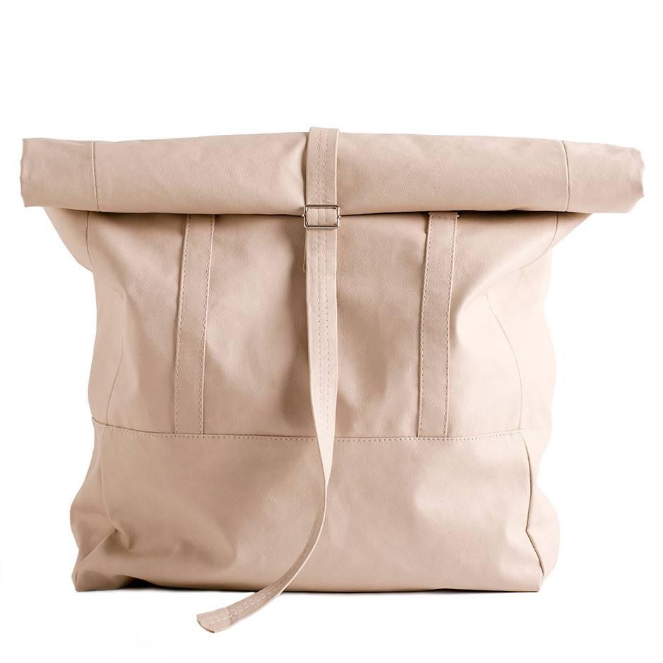 Lee Coren Lee Coren Wanderlust Roll Top Backpack: Nude