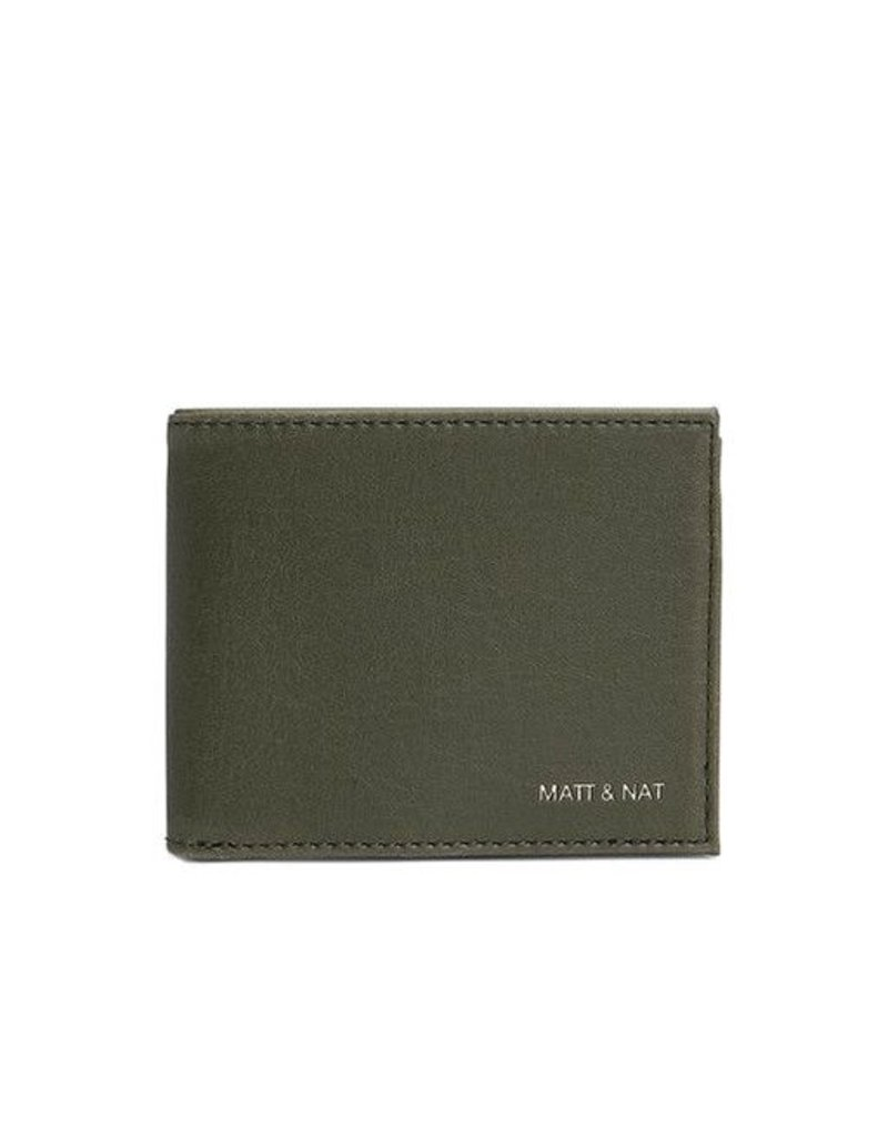 Matt & Nat Matt & Nat Rubben Wallet: Olive