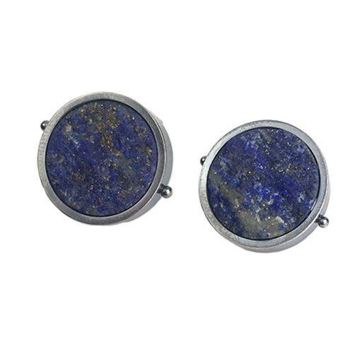 Ashka Dymel Ashka Dymel Earrings: Lapis Discs