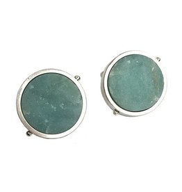 Ashka Dymel Ashka Dymel Earrings: Amazonite Discs