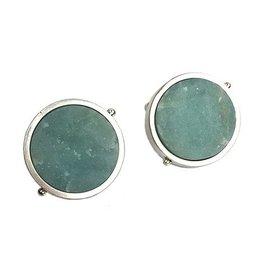 Ashka Dymel Ashka Dymel Earrings: Amazonite Discs