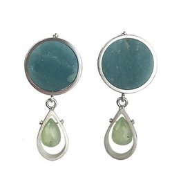 Ashka Dymel Ashka Dymel Earrings: Amazonite & Prehnite