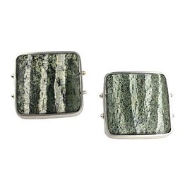 Ashka Dymel Ashka Dymel Earrings: Zebra Serpentine Squares