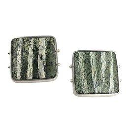 Ashka Dymel Ashka Dymel Earrings: Zebra Serpentine Squares