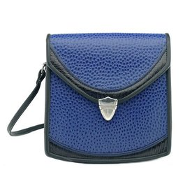 Roche Leather Roche Berkeley Crossbody: Sapphire Emu