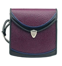 Roche Leather Roche Berkeley Crossbody: Aubergine Emu
