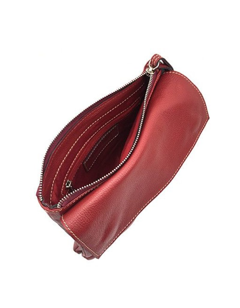 Modus Rio Modus Rio Tasseled Clutch: Red