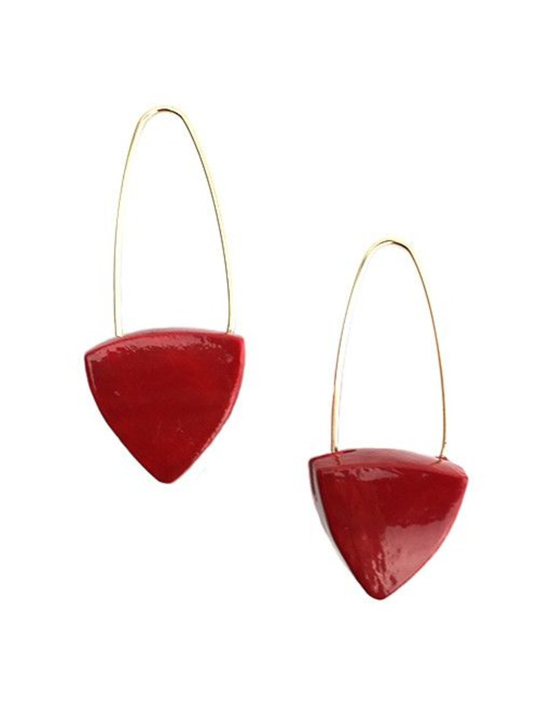 Keith Lewis Keith Lewis Pyramid Dangles: Red