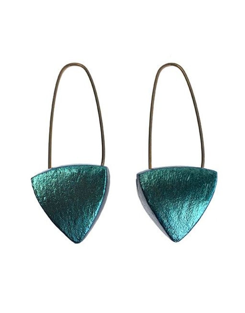 Keith Lewis Keith Lewis Pyramid Dangles: Turquoise