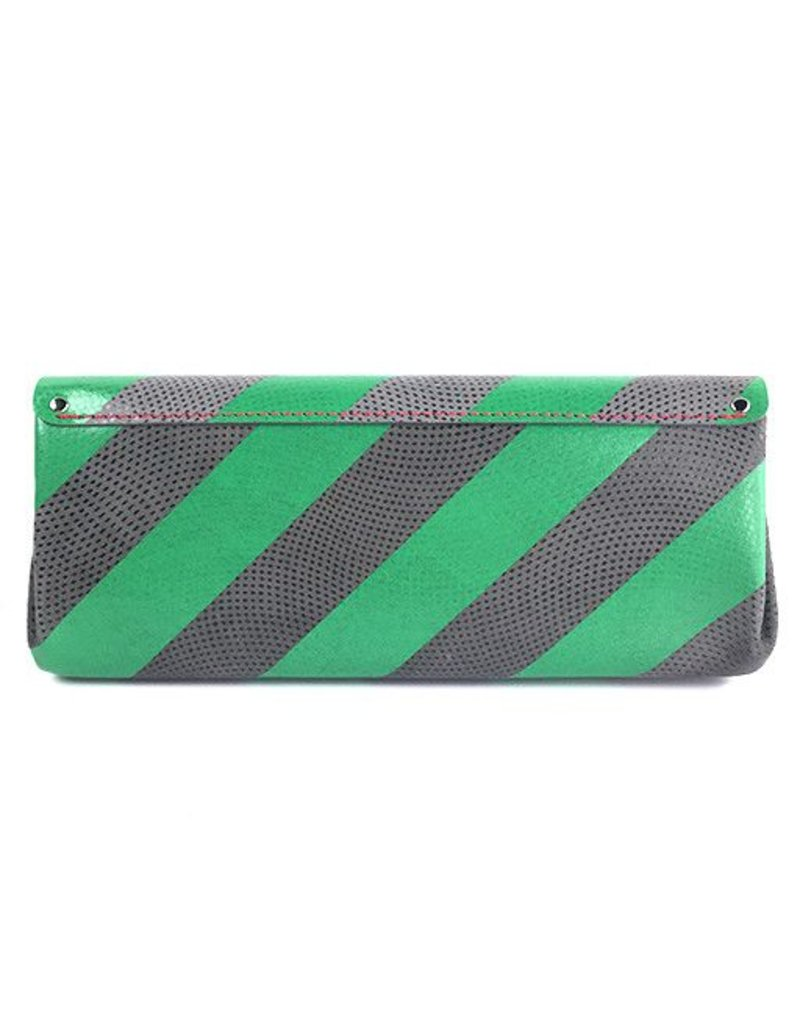 Carmine Carmine Long Stripe Wallet: Green